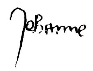 Signature of Jeanne d'Arc